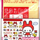 Basel Japan Twins Rabbit Letter Set with Stickers Kawaii