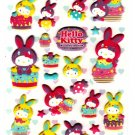 Sanrio Japan Hello Kitty Colorful Bunny Puffy Sticker Sheet by Sun-Star (A) 2010 Kawaii