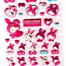 Sanrio Japan Hello Kitty Colorful Bunny Puffy Sticker Sheet by Sun-Star (D) 2010 Kawaii