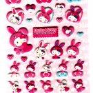 Sanrio Japan Hello Kitty Colorful Bunny Puffy Sticker Sheet by Sun-Star (D) 2010 Kawaii