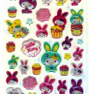 Sanrio Japan Hello Kitty Colorful Bunny Epoxy Sticker Sheet by Sun-Star (A) 2010 Kawaii