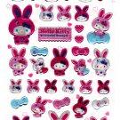 Sanrio Japan Hello Kitty Colorful Bunny Epoxy Sticker Sheet by Sun-Star (B) 2010 Kawaii