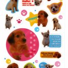 Kamio Japan Hello Puppies Sticker Sheet Kawaii