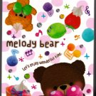 Mind Wave Japan Melody Bear Mini Memo Pad (A) Kawaii