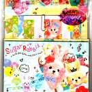 Q-Lia Japan Sugar Rabbit Letter Set with Stickers and Postcards Kawaii