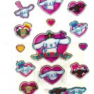 Sanrio Japan Cinnamoroll Hearts Sticker Sheet 2004 Kawaii