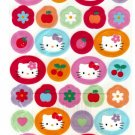 Sanrio Japan Hello Kitty and Fruits Sticker Sheet 1998 Kawaii