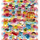 Crux Japan Happy Brithday Puffy Sticker Sheet Kawaii