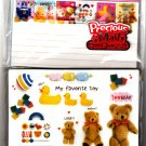 Kamio Japan My Favorite Toy Letter Set with Stickers Kawaii