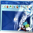 San-X Japan Snowland Letter Set with Stickers and Erasers 1994 Kawaii