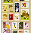 Phoenix Japan Fairy Tale World Stamp Sticker Sheet Kawaii