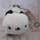 San-X Japan Nyanko Soccer Ball Plush Charm Keychain Strap 2006 Kawaii