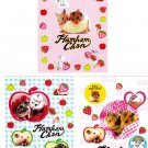 San-X Japan Hamham Chan Hamsters Post Cards Set of 3 Kawaii