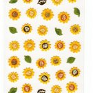 Mind Wave Japan Sunflowers Washi Paper Sticker Sheet Kawaii