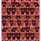 Bee Create Japan Bear Sticker Sheet Kawaii