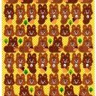 Bee Create Japan Squirrel Sticker Sheet Kawaii