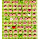 Pool Cool Japan Happy Friends Pigs Puffy Sticker Sheet Kawaii