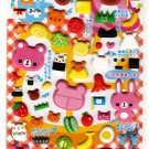 Kamio Japan Koguma Lunch Puffy Sticker Sheet Kawaii