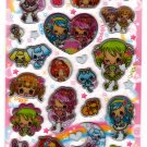 Pool Cool Japan Kirakira Girls Dance Party Sticker Sheet Kawaii