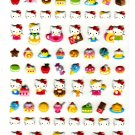 Sanrio Japan Hello Kitty Cute Model Puffy Sticker Sheet (B) 2010 Kawaii