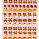 Kamio Japan Bear Faces Puffy Sticker Sheet Kawaii