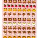 Kamio Japan Bear Faces Puffy Sticker Sheet Kawaii