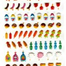 Kamio Japan Summer Festival Puffy Sticker Sheet Kawaii