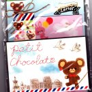 Kamio Japan Petit Chocolate Letter Set with Stickers Kawaii