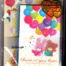 Crux Japan Thanks For Your Heart Letter Set Kawaii