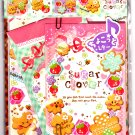 Q-Lia Japan Sugar Clover Letter Set with Stickers Kawaii