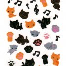 San-X Japan Kutusita Nyanko Sticker Sheet (A) 2011 Kawaii