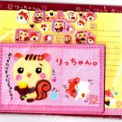 Q-Lia Japan Hamster and Squirrel Letter Set with Stickers Rare Kawaii