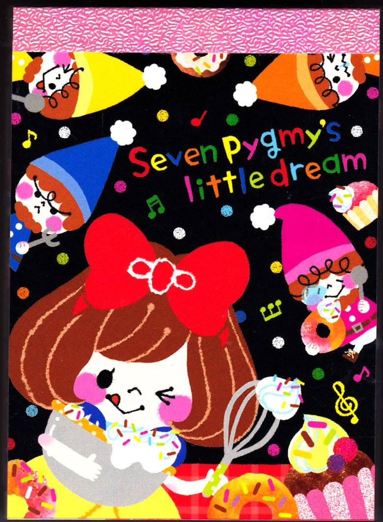 Q-Lia Japan Seven Pygmy's Little Dream Mini Memo Pad (A) Kawaii