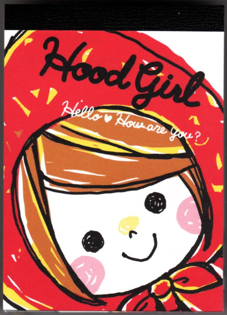 Kamio Japan Hood Girl Mini Memo Pad Kawaii