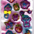 Crux Japan Jewelry Bear Beads in Bubble Sticker Sheet Kawaii