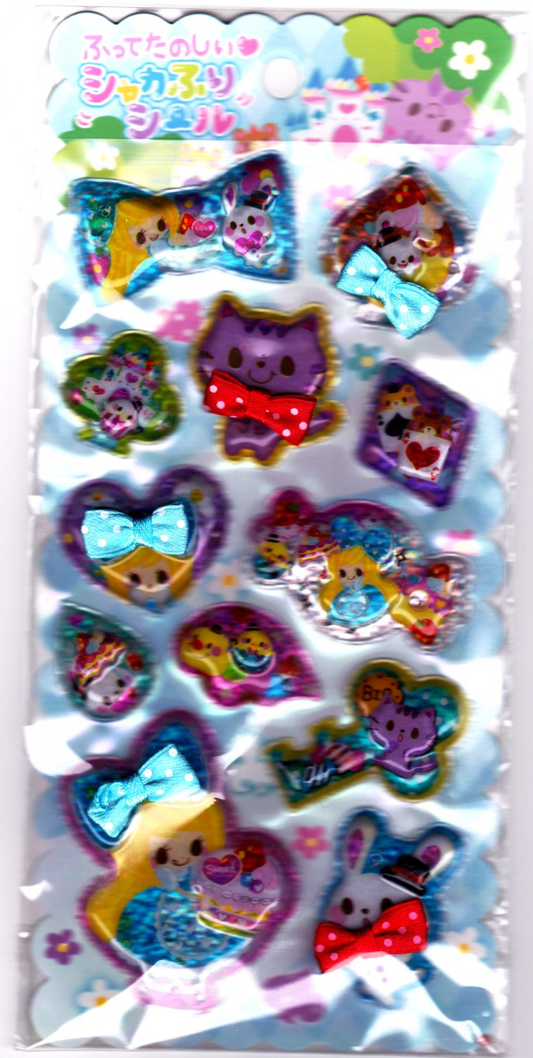 Crux Japan Love Sweet Story Beads in Bubble Sticker Sheet Kawaii