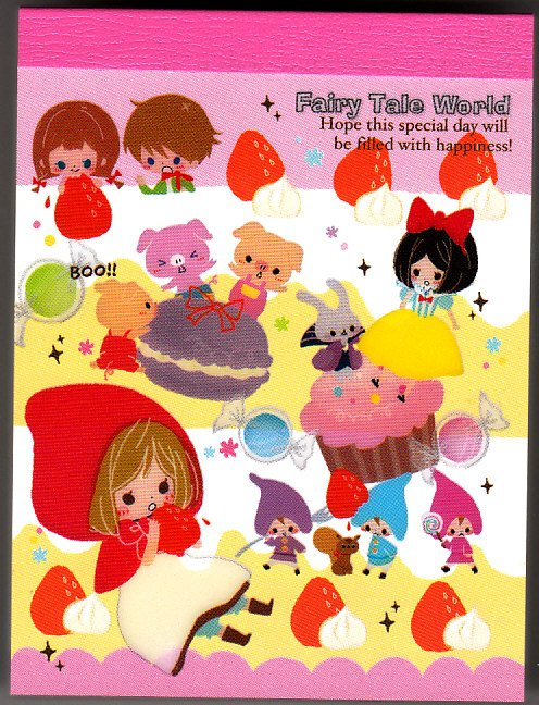 Kamio Japan Fairy Tale World Mini Memo Pad (N) Kawaii