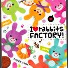 Q-Lia Japan I Love Rabbits Factory Mini Memo Pad Kawaii