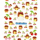 M.D.You Japan Hamsters and Cherries Sticker Sheet Kawaii