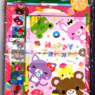 Wizard Japan Happy Friends Letter Set with Stickers Kawaii