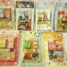 Crux Japan Cute Animals Girls Box Erasers Lot of 7 Kawaii