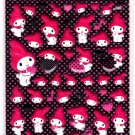 Sanrio Japan My Melody and Hearts Puffy Sticker Sheet by Sun-Star 2010 Kawaii