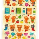 Lemon Japan Bears Mini Sticker Sheet Kawaii
