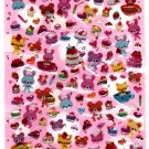 Daiso Japan Animal Sweets Epoxy Sticker Sheet Kawaii