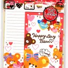 Crux Japan Happy Day Bear Letter Set with Stickers Kawaii