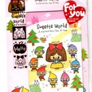 Kamio Japan Sweetie World Letter Set with Stickers Kawaii