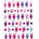 Mind Wave Japan Rabbits and Flowers Sticker Sheet Kawaii