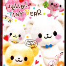 Q-Lia Japan Hello Tiny Bear Memo Book with Stickers Kawaii