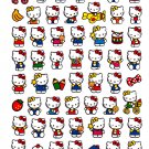 Sanrio Japan Hello Kitty Cute Model Sticker Sheet 2010 Kawaii