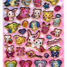 Sanrio Japan Sega Toys Jewel Pet Glitter Puffy Sticker Sheet (B) 2011 Kawaii